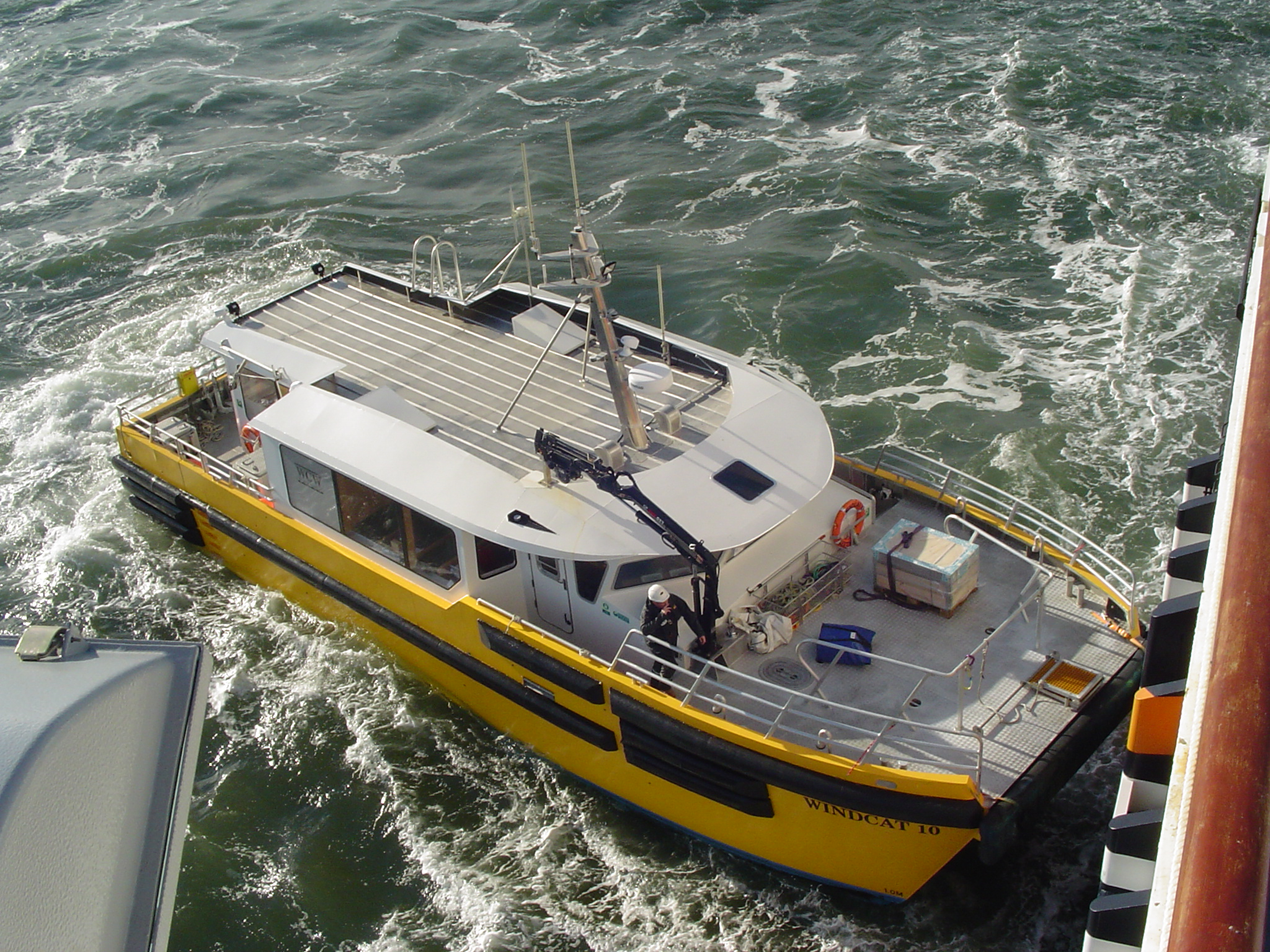 Windcat transfer boat