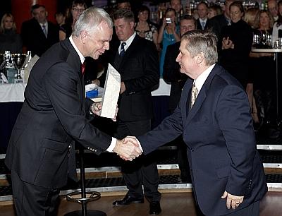 EJL president Jüri Käo ja Rein Ottoson (parim klubi)