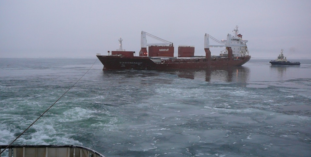 Kaubalaev hädas. Fotod PKL