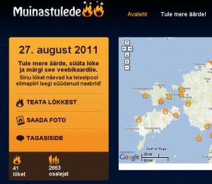 Lõkete arv Eestis 12. augustiks - muinastuled.ee