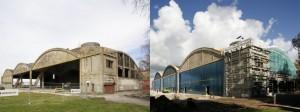 Lennusadama vesilennukite angaarid rekonstrueerimise alguses 2010. aasta mais ja 2011. aasta sügisel.