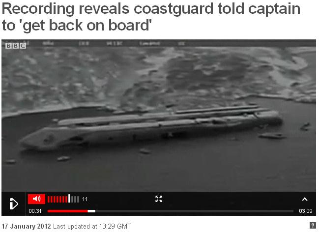 Costa Concordia külili
