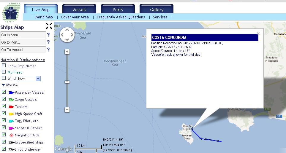 Ekraanitõmmis: Marinetraffic.com