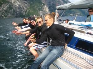 Purjetasime Lysefjordis - kuna tuul puhus pikki fjordi tegime ka palju purjetööd