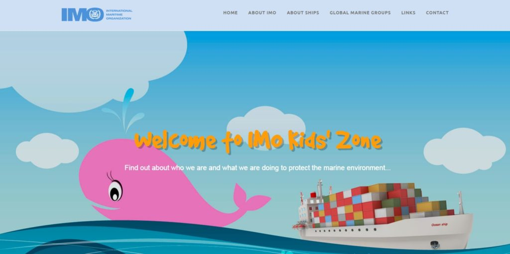 IMO website for kids